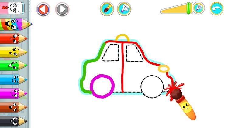 Car coloring book & drawing