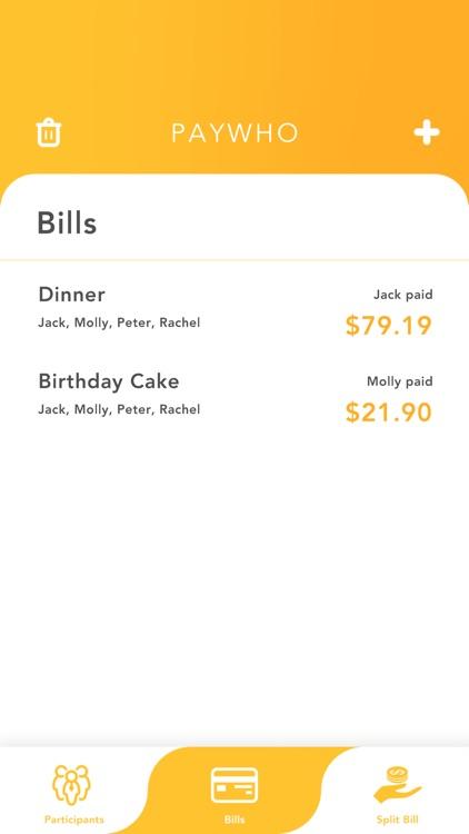 PayWho: Quick Split Bill screenshot-6