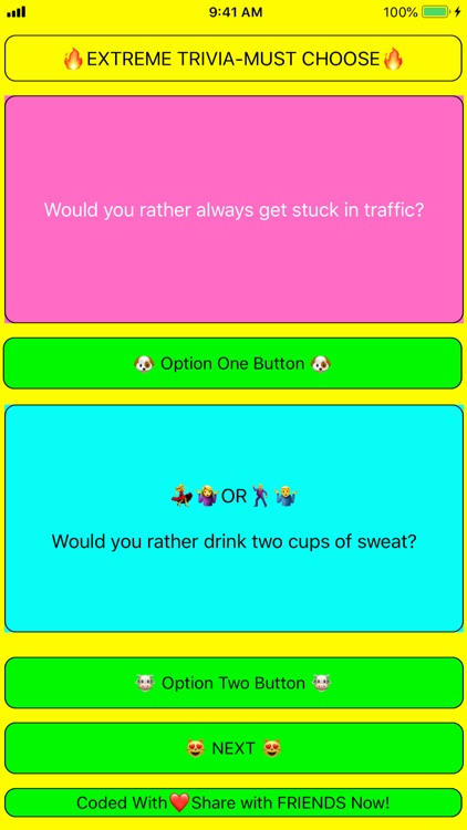 Would You Rather? Best Trivia