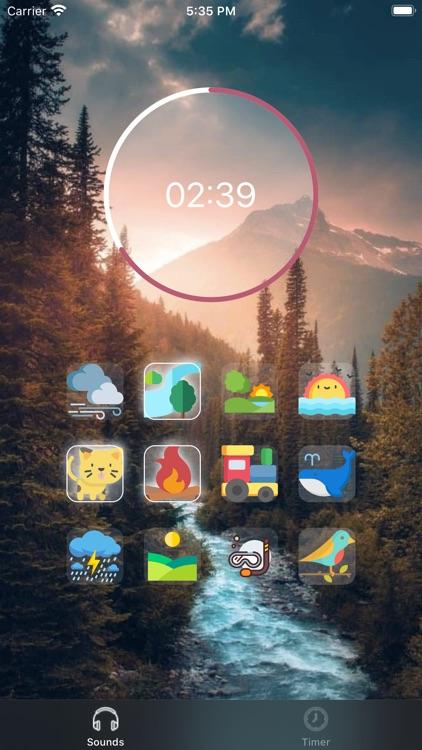 Sleep Timer — Relaxing Sounds screenshot-4