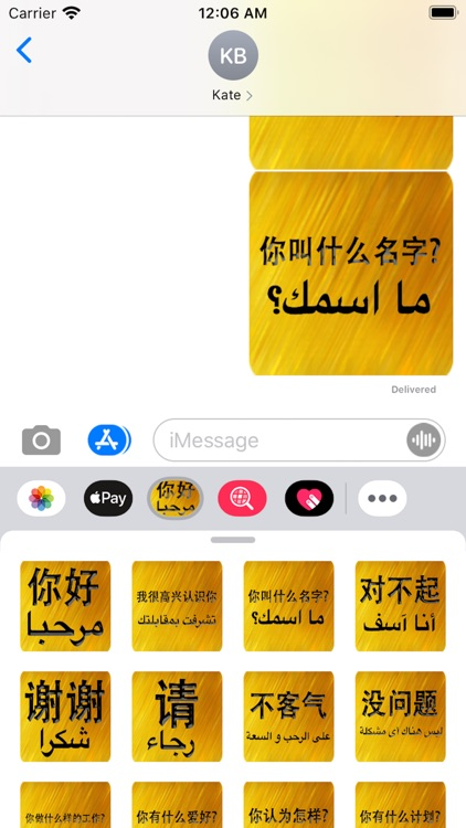 Chinese Arabic Sticker screenshot-5
