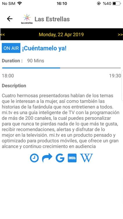 TV Mexico EPG screenshot-4