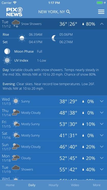 PIX11 NY Weather