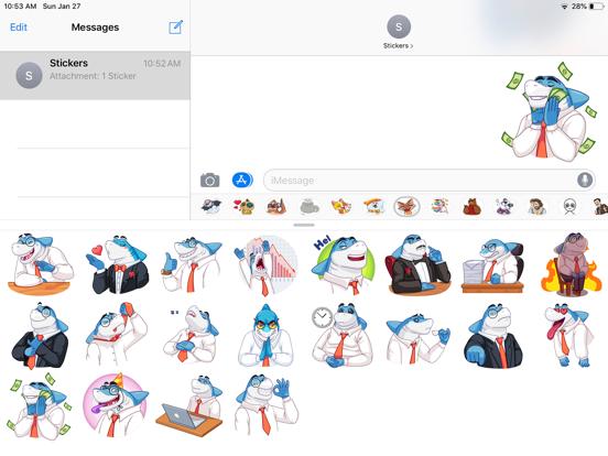 Shark Boss Emoji Stickers screenshot 4