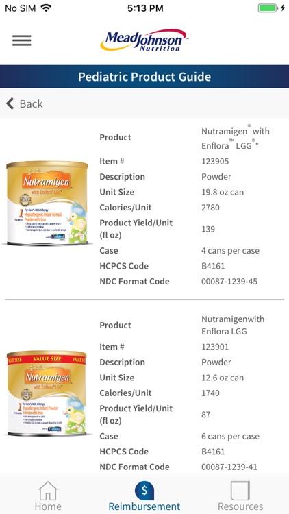 MJN Pediatric Product Guide screenshot-3