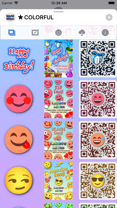 Colorful Stickers and Emoji screenshot 5