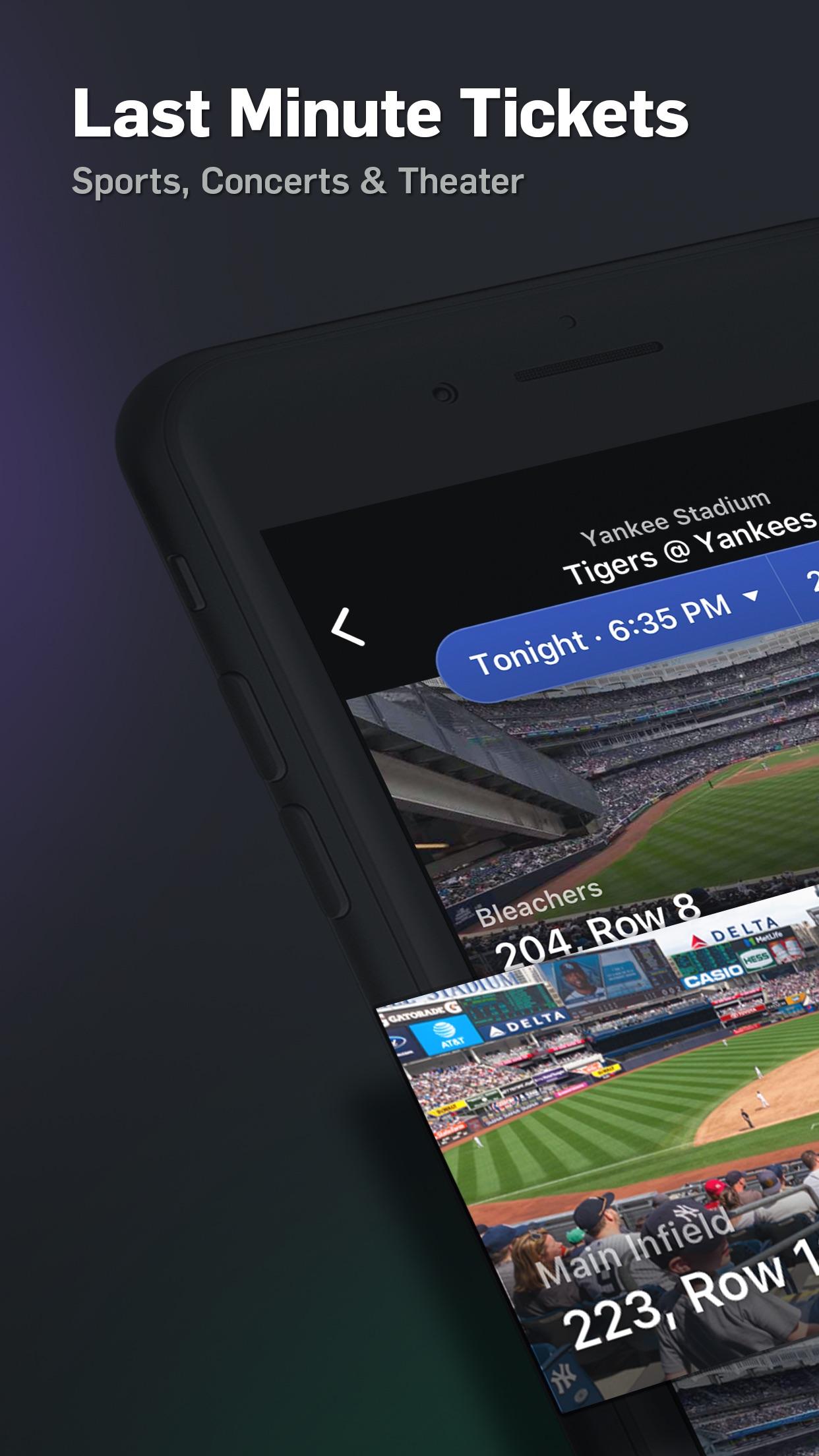 Gametime · Last Minute Tickets Screenshot
