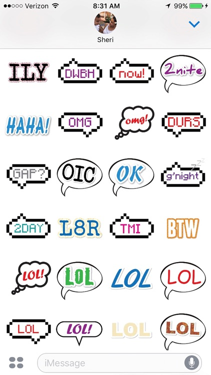 Text Chat Stickers
