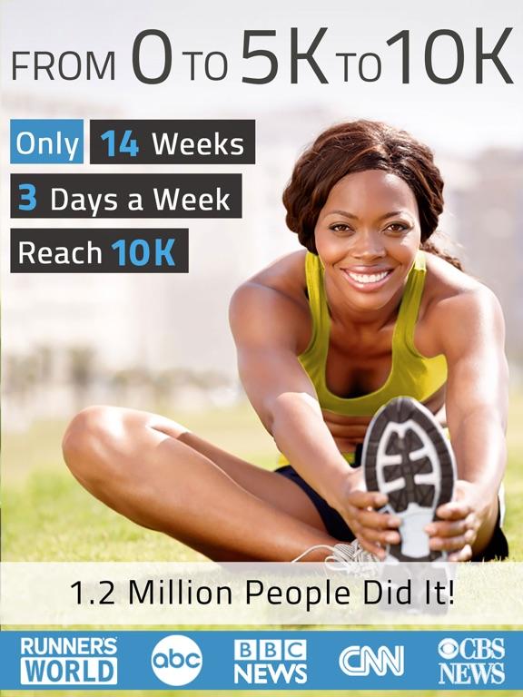 10K Runner: 0 to 5K to 10K run training screenshot