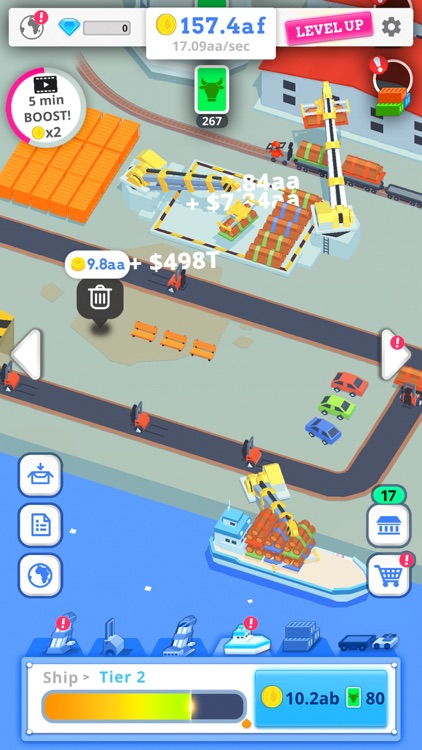 Idle Port Tycoon - Sea game