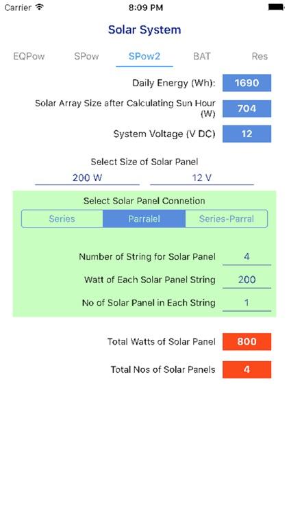 PV Calculator - off grid