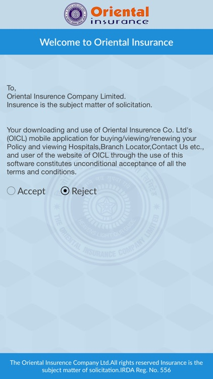 Oriental Insurance On Mobile screenshot-0