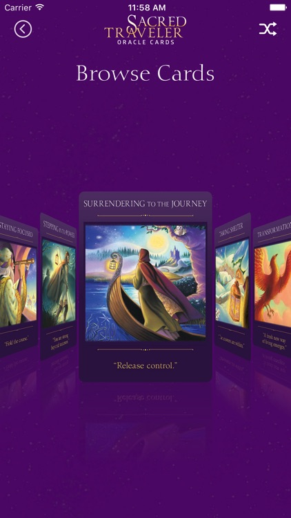 Sacred Traveler Oracle Cards screenshot-4
