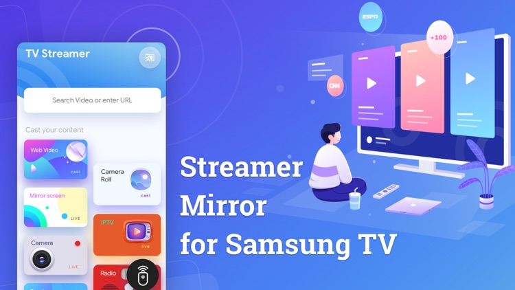 Screen mirroring to Samsung TV