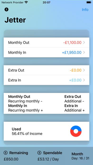Jetter: Easy Spending Tracker screenshot #2