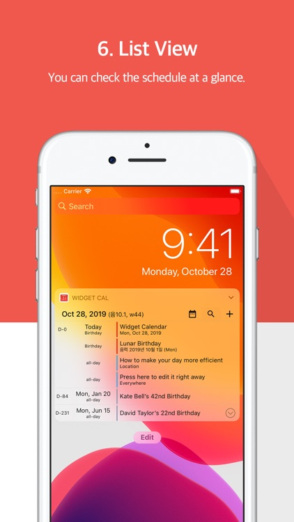 Widget Calendar : Easy&Simple screenshot-5