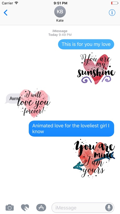 Animated Love Quotes Stickers screenshot-4