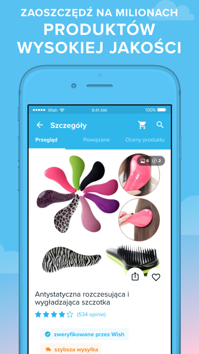 Screenshot for Wish - Shopping Made Fun in Poland App Store