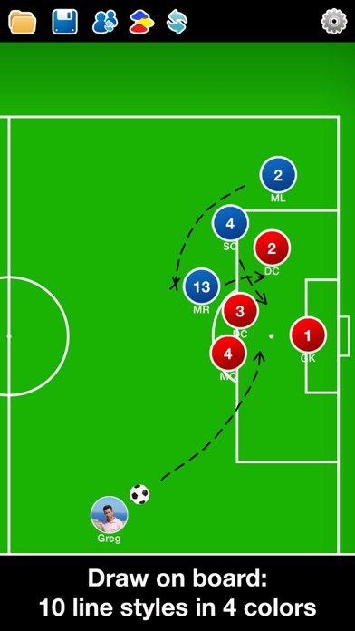 Screenshot for Coach Tactic Board: Soccer++ in Viet Nam App Store