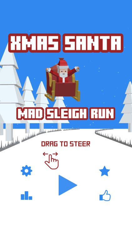 Xmas Santa Mad Sleigh Run screenshot-0