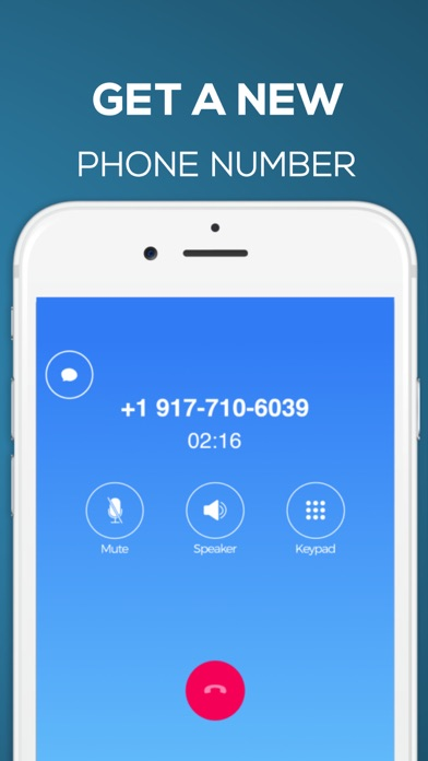 Second Phone Number ° Screenshot on iOS