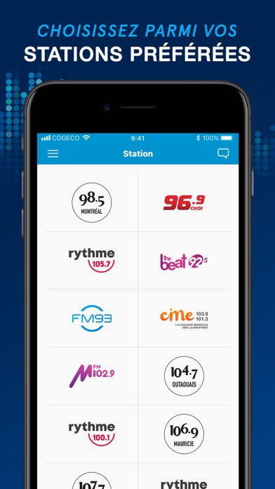 Screenshot for Cogeco Média in Canada App Store
