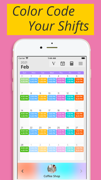 Shiftify:バイトの給料計算とシフト管理のスクリーンショット1