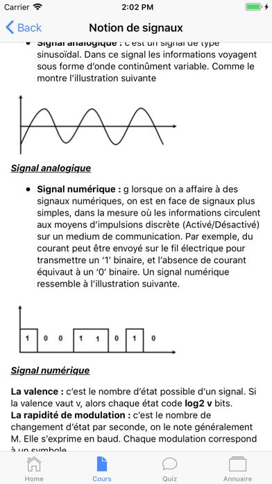 Cours de Réseau Informatique screenshot 2