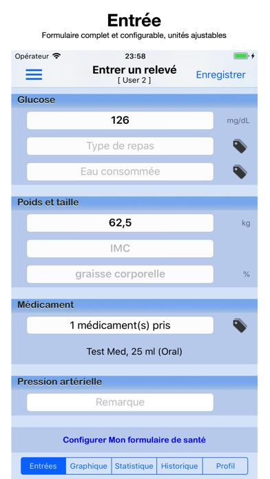 Screenshot #1 pour Glucose Moniteur
