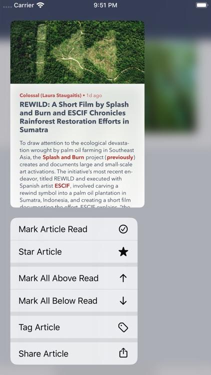 Fiery Feeds: RSS Reader screenshot-8