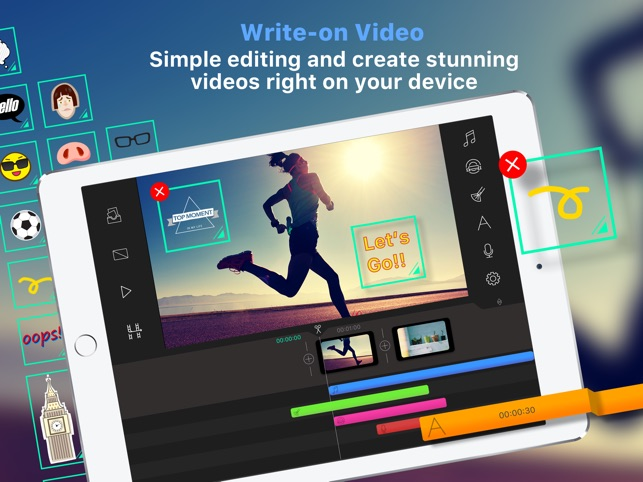 Write-on Video-Video Editor on the App Store