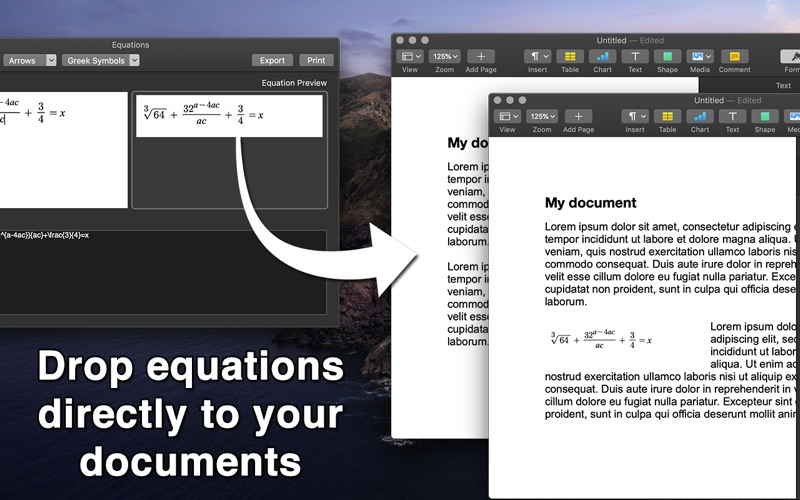 Equation for Mac