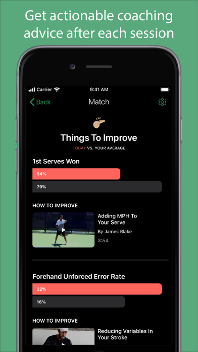 Screenshot #3 pour SwingVision: The Tennis App
