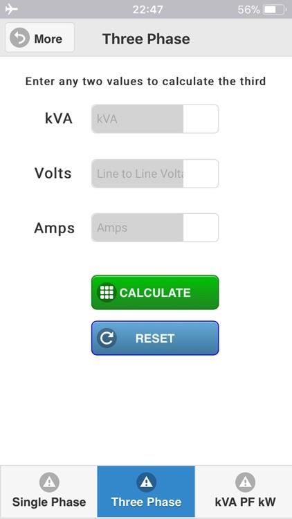 kVA Calculator screenshot-3