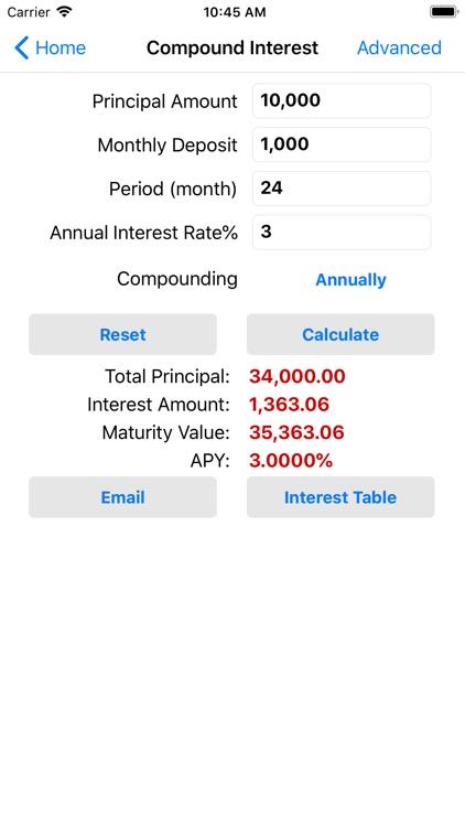 EZ Financial Calculators screenshot-4
