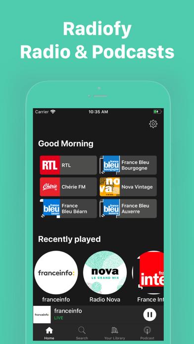 Radiofy screenshot 1