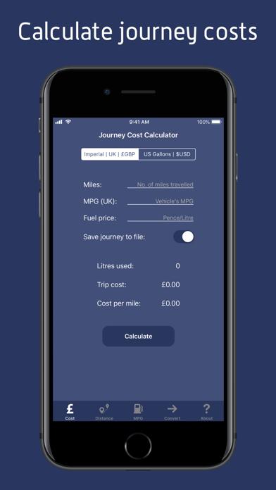 JourneyCalc - Cost Calculator screenshot 1