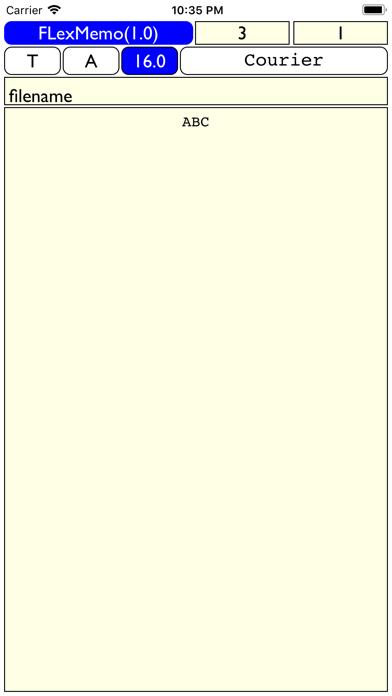 FlexMemo - 拡大・縮小が自由自在なメモ帳 screenshot three