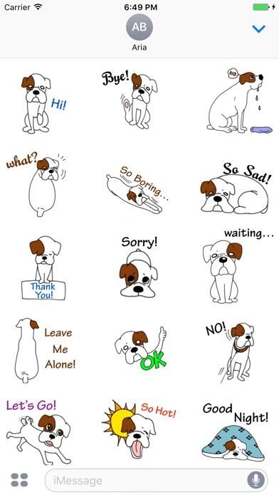 Cute White Boxer Dog Sticker screenshot 1