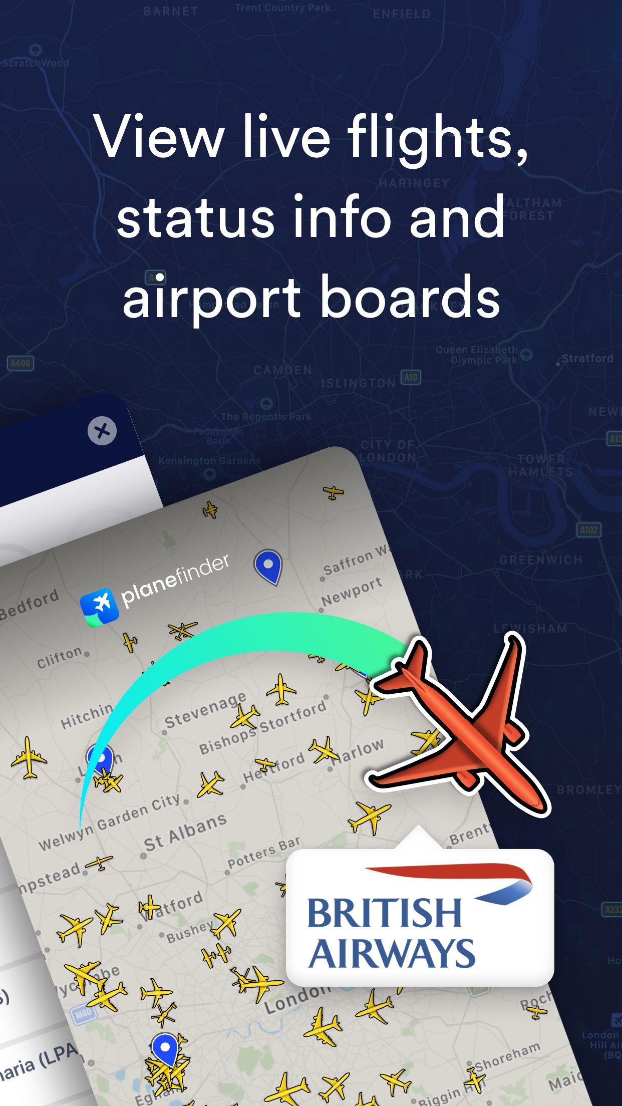 Plane Finder ⁃ Flight Tracker Screenshot
