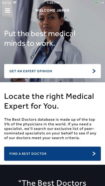 Best Doctors Member App screenshot-0