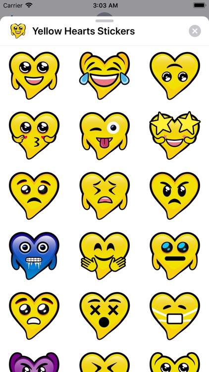 Yellow Hearts stickers