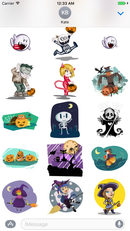 Funny Halloween Sticker