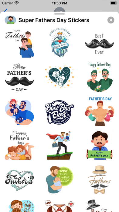 Super Father's Day Stickers screenshot 3