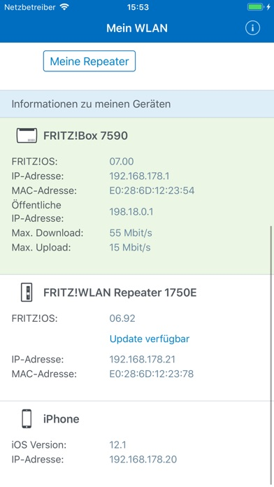 Screenshot for FRITZ!App WLAN in Germany App Store