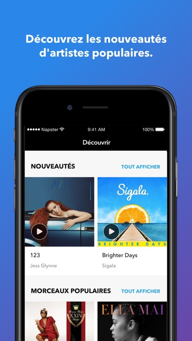 Screenshot for Napster in France App Store