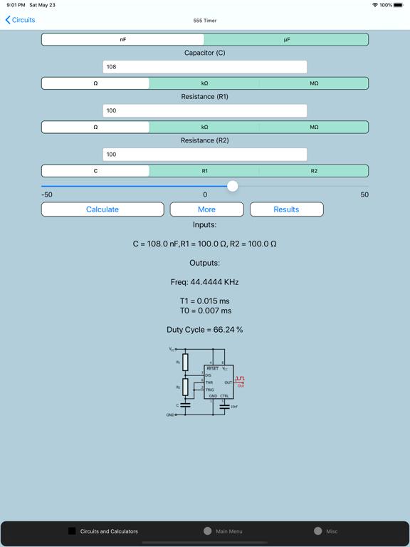 Screenshot #4 pour Electronics Circuit Calculator