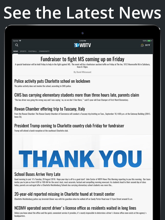 WBTV 3 Local News On Your Side on the App Store