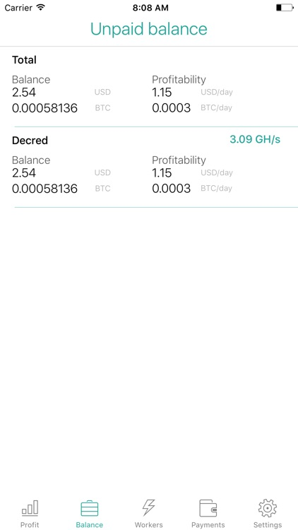 Nicestats: Nicehash screenshot-1