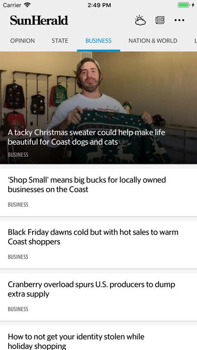 Biloxi Sun Herald News screenshot four